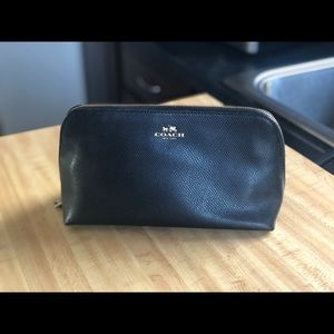 Coach makeup bag. Slightly used with 2 pockets